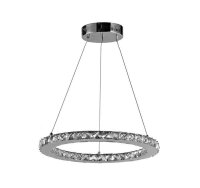 Hängeleuchte Spot Light Fiamma LED Pendelleuchte Pendellampe Ring Chrom
