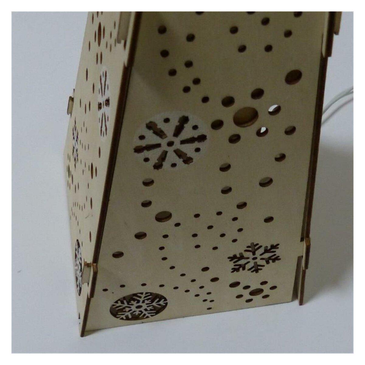 pyramide weihnachtsbeleuchtung holz mit sternen deko lampe 4 90 eur. Black Bedroom Furniture Sets. Home Design Ideas