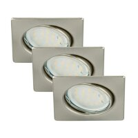 Einbauleuchte Briloner Attach LED Eckig Downlight 3er Set...