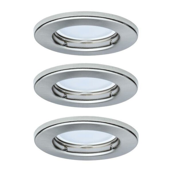 Einbauleuchte Paulmann LED Eisen 3er Set Downlight...