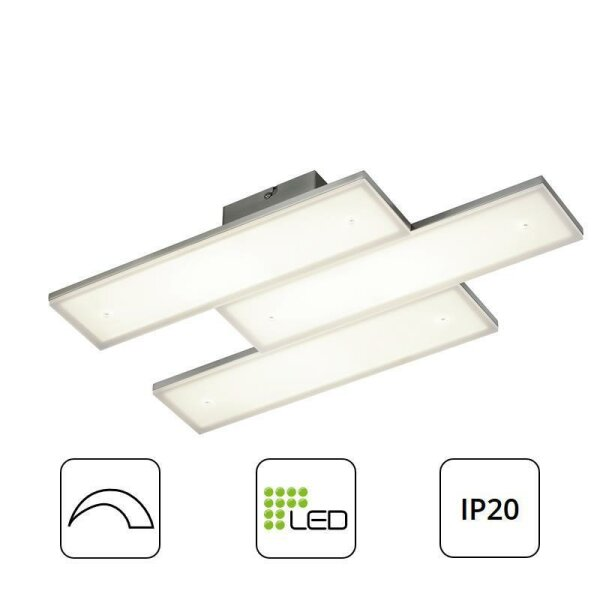 deckenleuchte trio denver led panel dimmbar deckenlampe. Black Bedroom Furniture Sets. Home Design Ideas