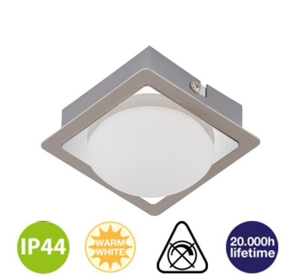 Badleuchte Briloner SURF chrom-nickel LED-Modul 4,5W...
